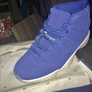 Exclusive Blue Suede Jordan 11s